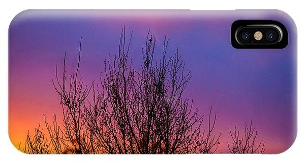 Shrubs iPhone Case - Rainbow Clouds by Az Jackson