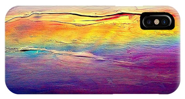 IPhone Case featuring the painting Rainbow Clouds Full Spectrum -dedicated                     by VIVA Anderson