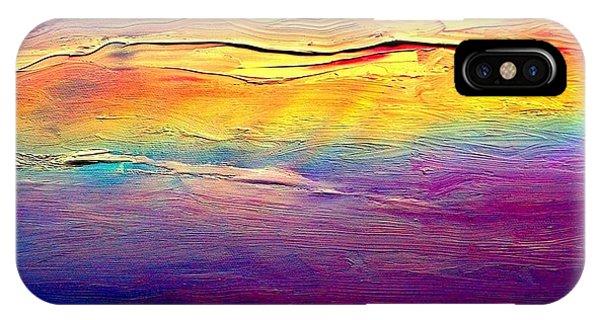 Rainbow Clouds Full Spectrum -dedicated                     IPhone Case
