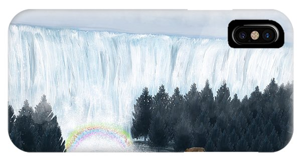 Stag iPhone Case - Rainbow Creek by Bri Buckley