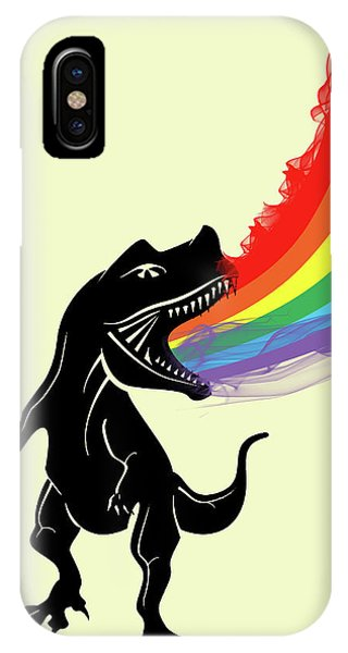 Dinosaur iPhone Case - Rainbow Dinosaur by Mark Ashkenazi