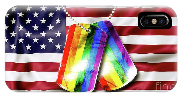 Rainbow Dog Tags IPhone Case