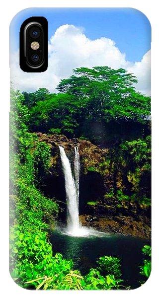 Rainbow Falls Hilo Hawaii IPhone Case