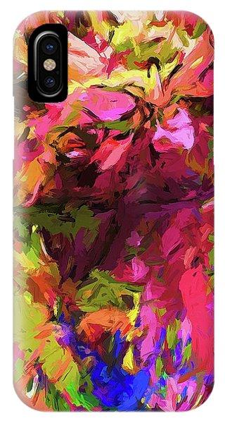 Rainbow Flower Rhapsody Pink Cobalt Blue IPhone Case