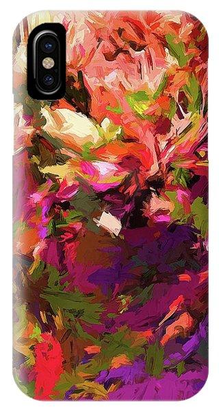 Rainbow Flower Rhapsody Purple Green IPhone Case