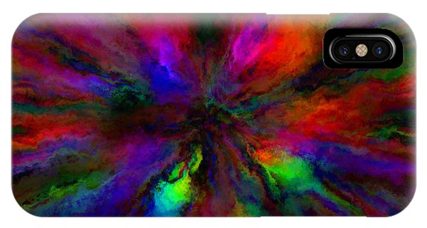 Rainbow Grunge Abstract IPhone Case