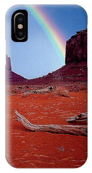 Rainbow In Monument Valley Arizona IPhone Case
