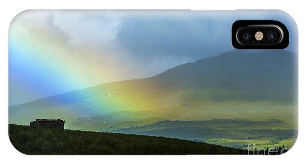 Beautiful Scotland iPhone Case - Rainbow In The Scottish Highlands by Diane Diederich
