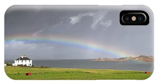 Rainbow, Island Of Iona, Scotland IPhone Case