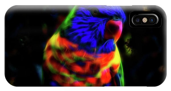 Rainbow Lorikeet - Fractal IPhone Case