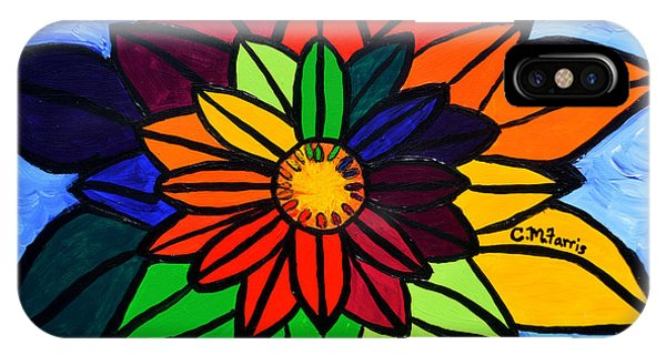 IPhone Case featuring the painting Rainbow Lotus Flower by Christopher Farris
