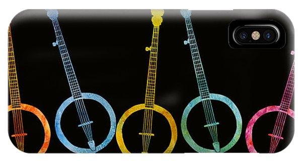 Rainbow Of Banjos IPhone Case