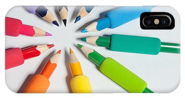Rainbow Of Crayons IPhone Case