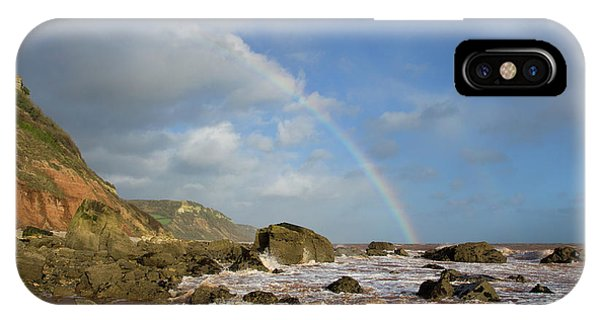 Rainbow Over Dunscombe Cliff IPhone Case