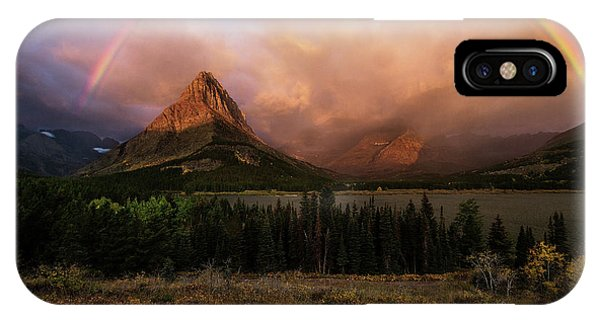 Rainbow Over Mt Gould IPhone Case