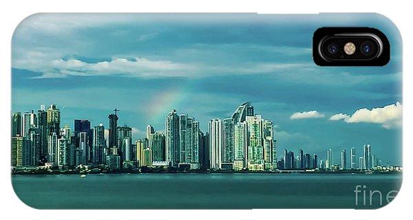 Rainbow Over Panama City IPhone Case