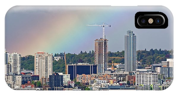 Rainbow Over Seattle IPhone Case