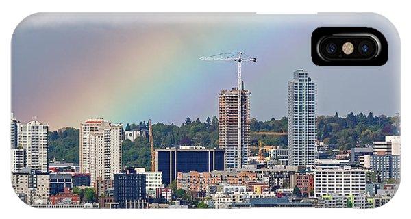 Rainbow Over Seattle IPhone Case