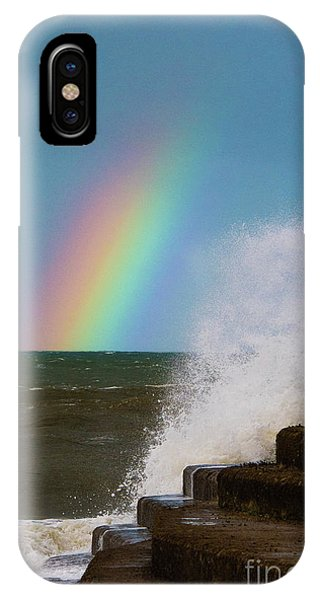 Rainbow Over The Crashing Waves IPhone Case