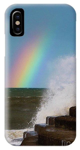 Rainbow Over The Crashing Waves IPhone Case