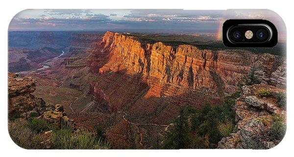Rainbow Over The Painted Desert Phone Case by Adam Schallau