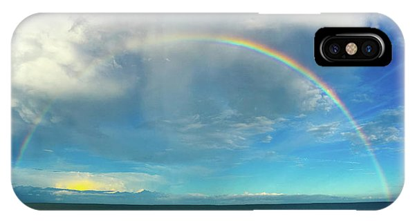 Rainbow Over Topsail Island IPhone Case
