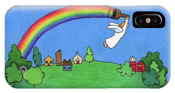 Angels iPhone Case - Rainbow Painter by Sarah Batalka