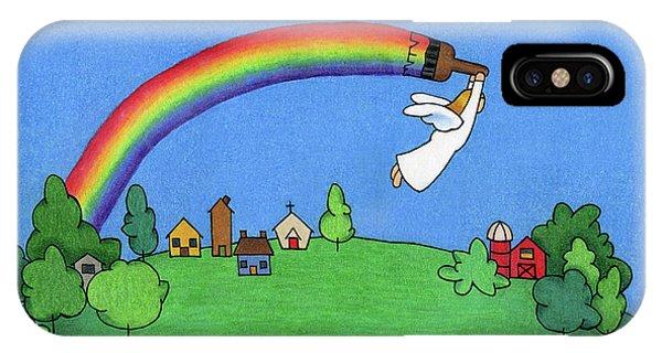 Rainbow Painter IPhone Case