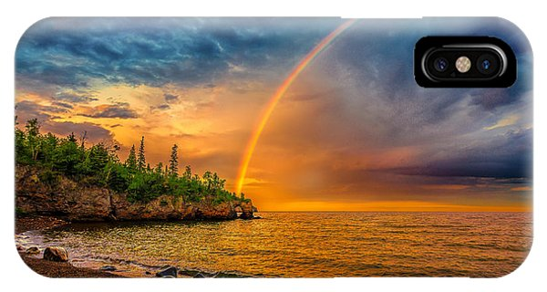 Rainbow Point IPhone Case
