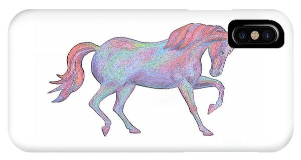 Rainbow Pony II IPhone Case