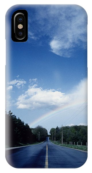 Rainbow Road Blue Sky IPhone Case