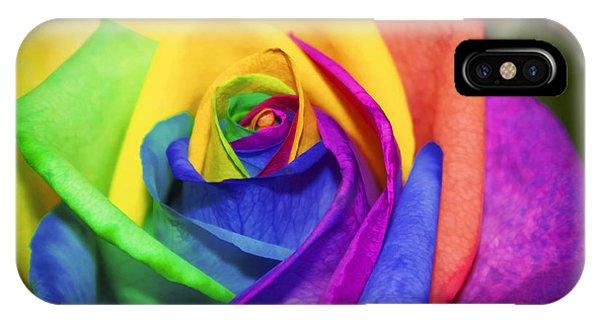 Rainbow Rose In Paint IPhone Case