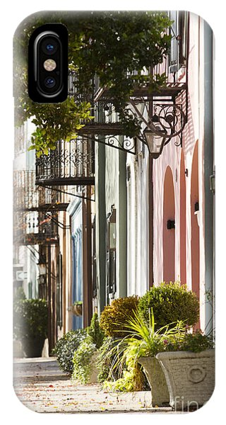Rainbow Row Charleston Sc 2 IPhone Case