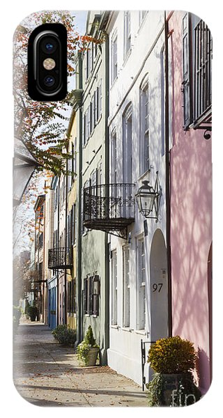 Rainbow Row Charleston Sc 3 IPhone Case