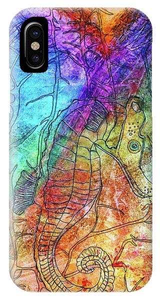 Rainbow Seahorse IPhone Case