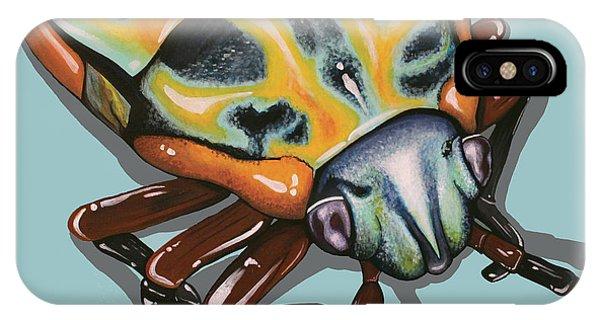 Rainbow Shield Beetle IPhone Case