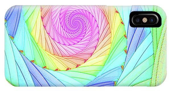 Rainbow Spiral IPhone Case