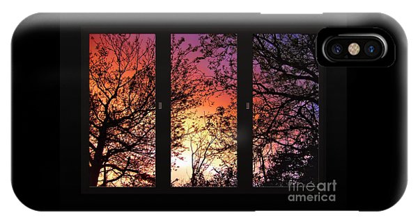 Rainbow Sunset Through Your Window IPhone Case