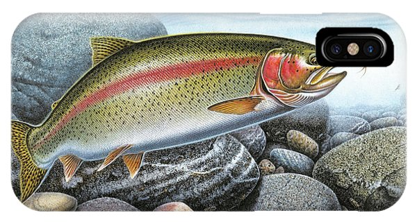 Trout iPhone Case - Rainbow Trout Stream by JQ Licensing