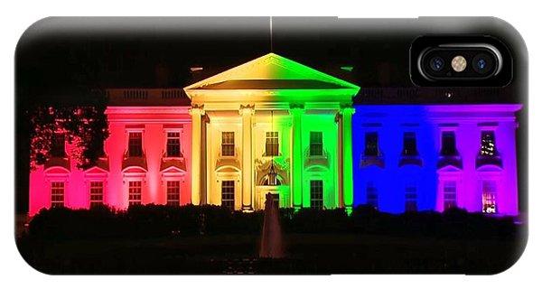 Rainbow White House IPhone Case