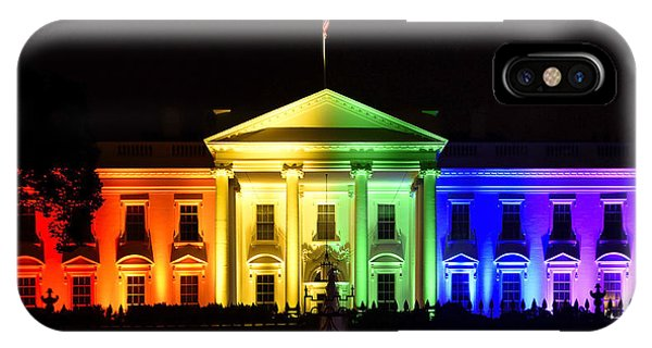 Rights iPhone Case - Rainbow White House  - Washington Dc by Brendan Reals