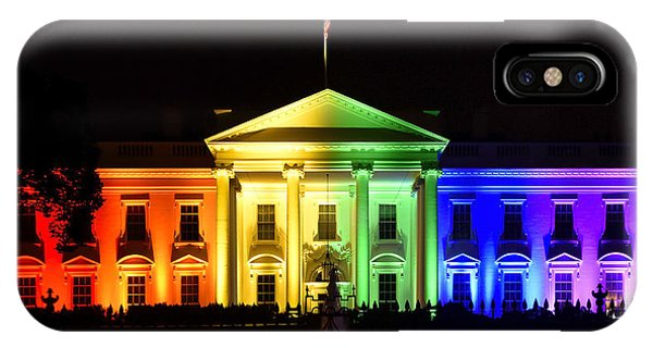 House iPhone Case - Rainbow White House  - Washington Dc by Brendan Reals