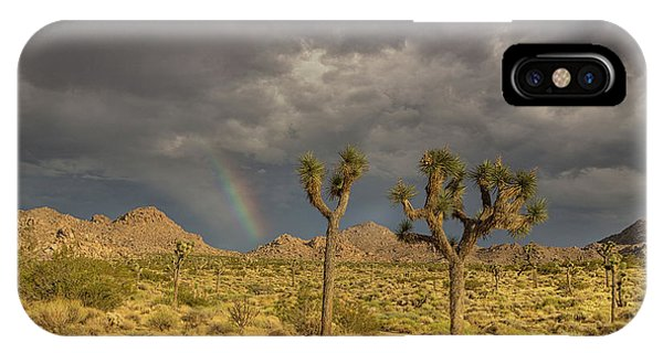 Rainbows Thunderstorms And Sunsets IPhone Case
