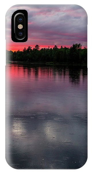 Raindrops At Sunset IPhone Case