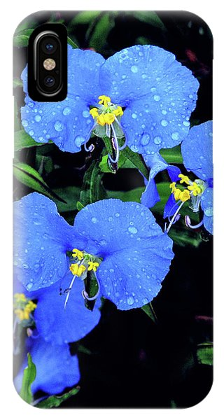 Raindrops In Blue IPhone Case