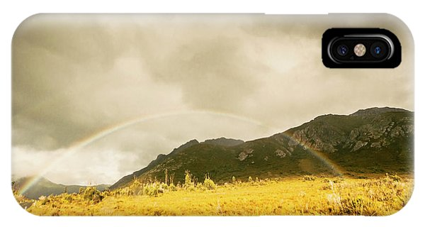 Natural iPhone Case - Raindrops In Rainbows by Jorgo Photography - Wall Art Gallery