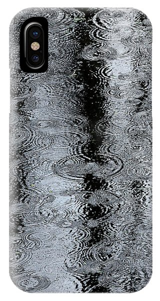 Raindrops On A Pond IPhone Case
