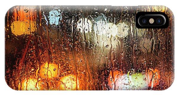 Raindrops On Street Window IPhone Case