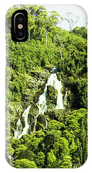 Stone Wall iPhone Case - Rainforest Rapids by Jorgo Photography - Wall Art Gallery