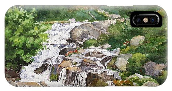 Wiese iPhone Case - Rainier Cascades by Marilynn Wiese